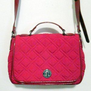 Vera Bradley Red Microfiber Crossbody Bag